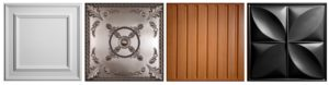 Примеры окрашенных и ламинированных потолочных плиток