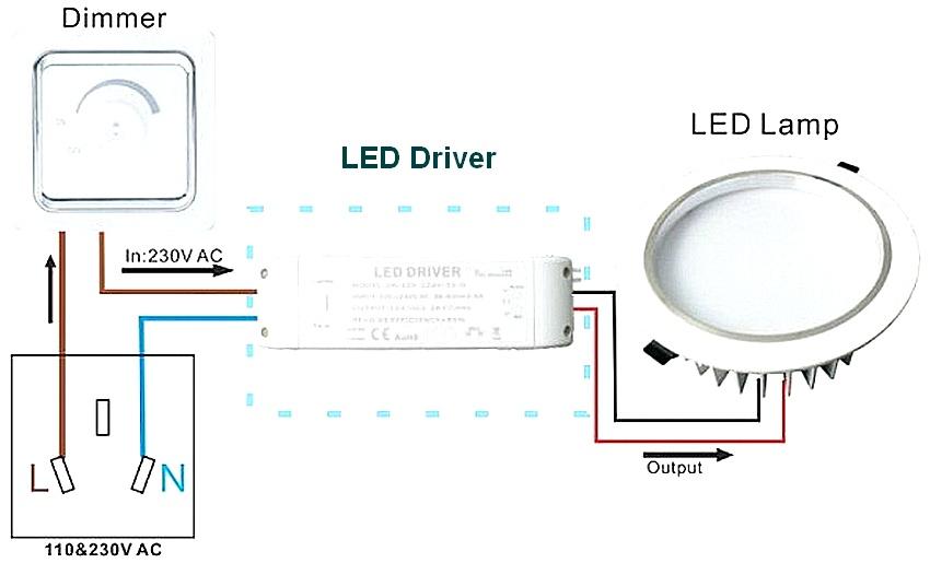 Схема подключения светильников светодиодных
