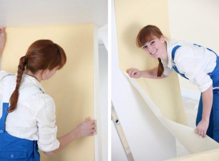 Оклеивание виниловыми обоями внешнего угла комнаты