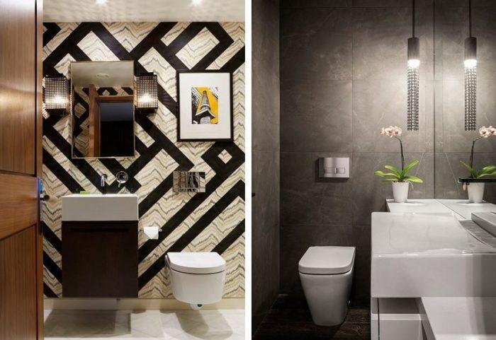 Продуманное освещение — важный момент в оформлении маленького туалета