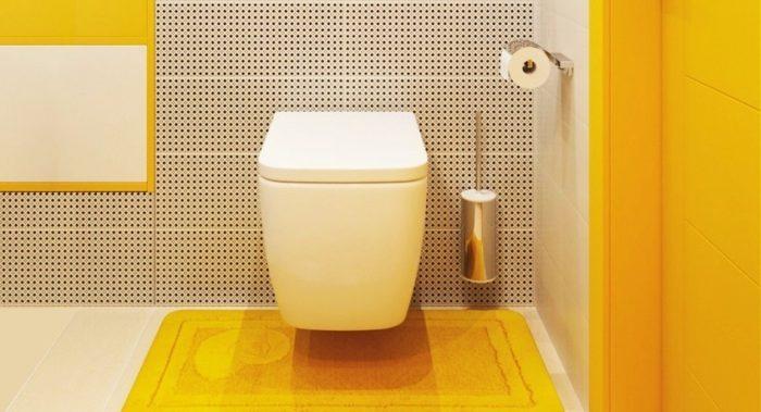 Маленький туалет можно оформить современно и стильно