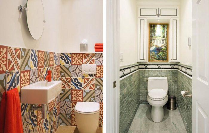 Керамическая плитка — популярный материал для оформления туалета