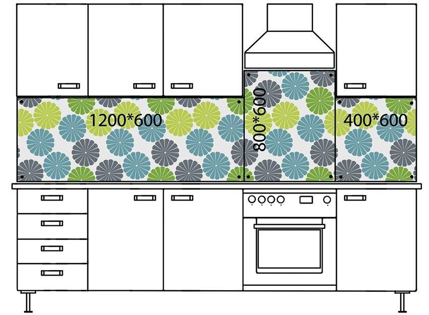 Схемы кухонных фартуков