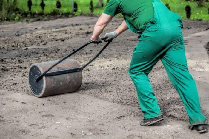Утрамбовка земли производится до и после посадки семян