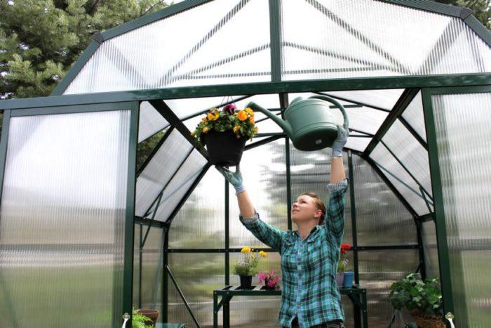 Использование в конструкции теплицы поликарбоната разной степени прозрачности позволяет создавать необходимые условия для выращивания тех или иных видов растений