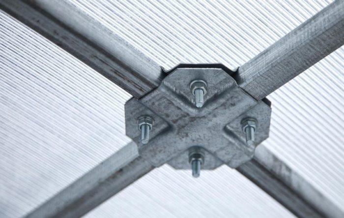 Каркас теплицы из алюминиевого профиля с поликарбонатом
