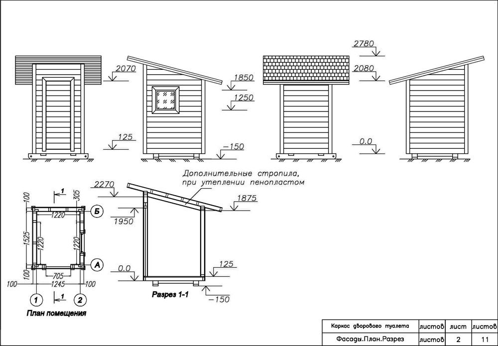 Теплый туалет на даче своими руками чертежи размеры 84