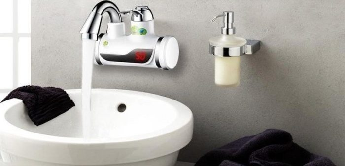 Водонагреватель с электронным индикатором температуры нагрева воды