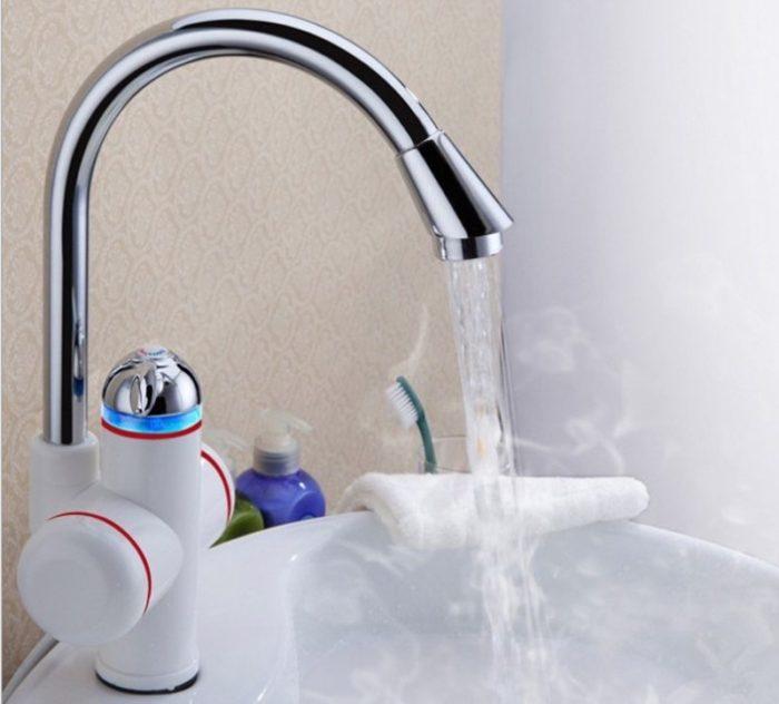 Компактный водонагреватель способен нагреть воду за короткий промежуток времени