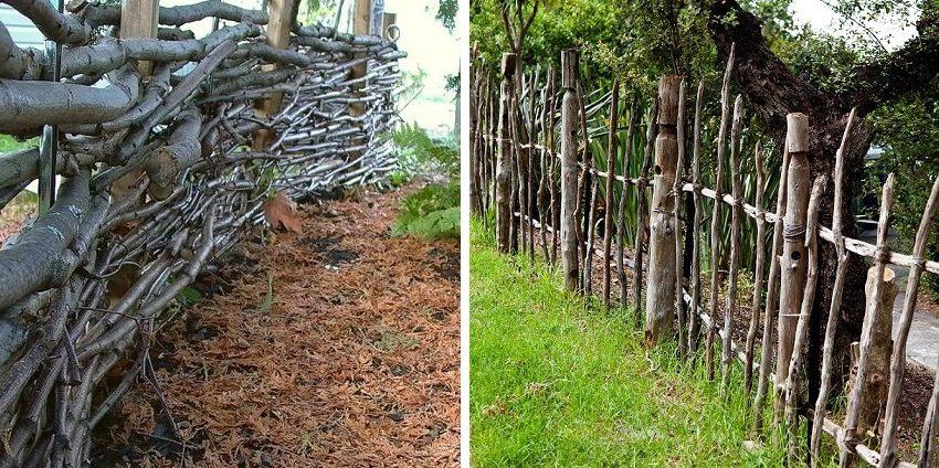 Забор плетень для дачи своими руками
