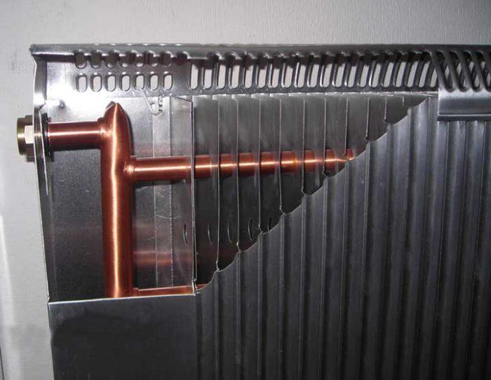 Алюминиевый радиатор в разрезе
