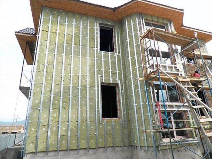 Монтаж фасада из Алюкобонда