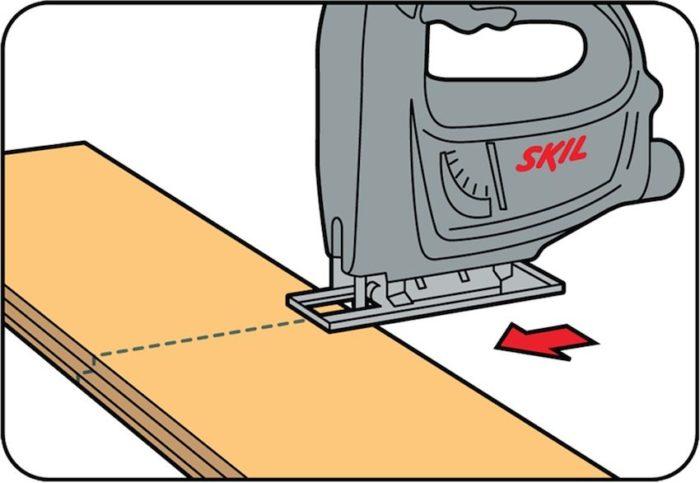 Подрезка ламинированной панели до нужного размера