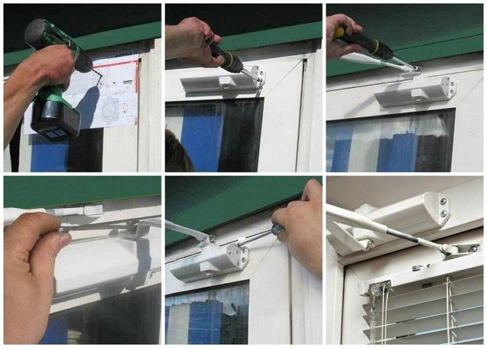 Установка рычажного доводчика напластиковую дверь
