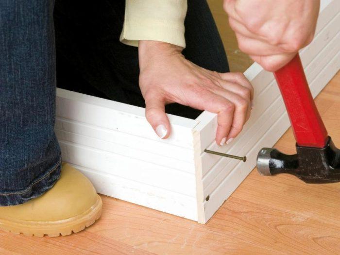 Шаг 2: сборка дверной конструкции и псевдокороба