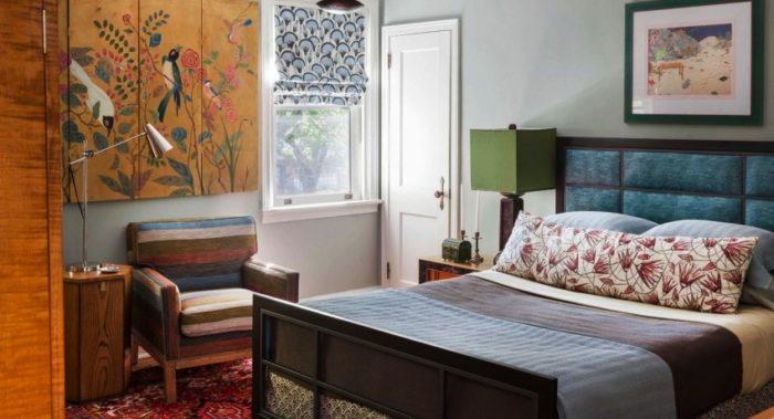 В дизайне спальни 12 кв. м особенно важно проработать функционал помещения
