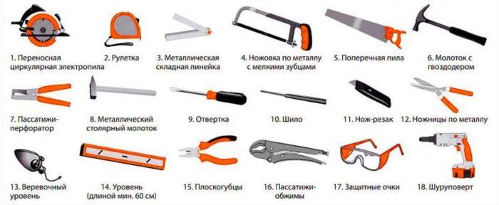 Инструменты, необходимые для монтажа винилового сайдинга своими руками
