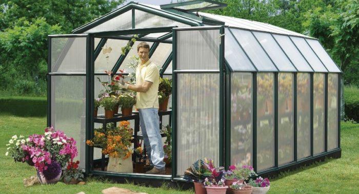 В парнике из поликарбоната можно выращивать растения независимо от погодных условий
